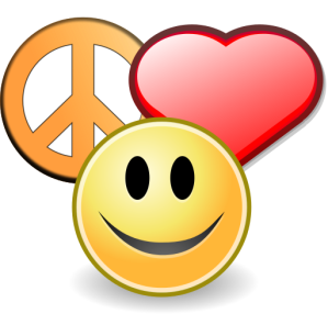 Peace, love and happiness From Wikimedia Commons (in the public domain)